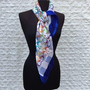 Coach Colorful Silk Scarf